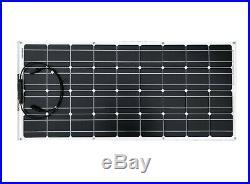 100W 12V Mono Semi Module Solaire Flexible Panneau Pour Bateau Caravane Camping