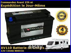 110Ah 12V Batterie de Loisirs Pour Caravane Camping Car Bateau Garantie de 4 Ans
