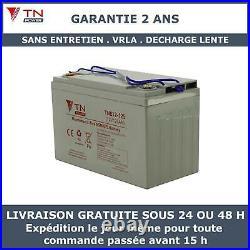 12V 125Ah Batterie à decharge lente AGM TNE12-125 Pour Camping Car, Bateaux