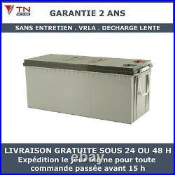 12V 230Ah Batterie à decharge lente AGM TN Power Pour Camping Car, Bateaux