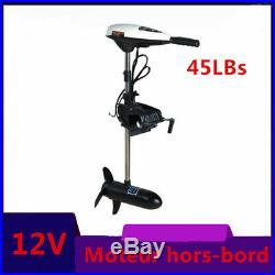 12V 45LBS Moteur électrique hors-bord pour bateau de pêche Moteur de kayak