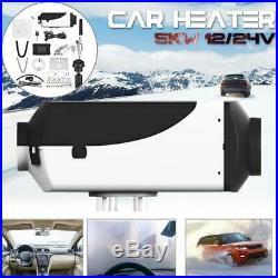 12V 5000W Diesel Air Heater Chauffage Voiture Pour Bateaux Motorhome Car FR