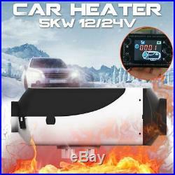 12V 5000W Diesel Air Heater Chauffage Voiture Pour Bateaux Motorhome Car LCD