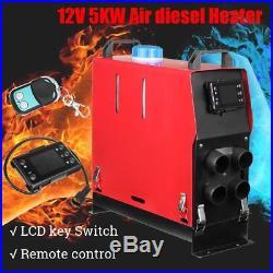12V 5000W Réchauffeur Air Diesel 4 Trou LCD Contrôleur PLANAR pour bateau camion