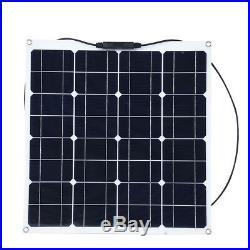 12V 50W Panneau Solaire Chargeur pour Voiture Bateau Extérieur Haute efficacité