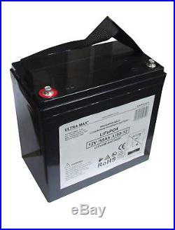 12V 55AH Loisirs / Marine Batterie Lithium pour Bateau-Maison/ Bateau/ Yacht Lm