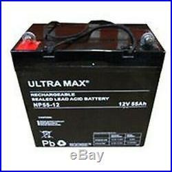 12V 55AH Loisirs / Marine Batterie Ultramax pour Bateau-Maison/ Bateau/ Yacht Lm