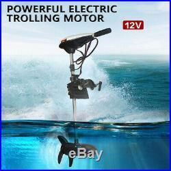 12V 65LBS Moteur électrique hors-bord pour Barque Bateau Pneumatique 660W DHL