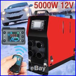 12V Réchauffeur Air Diesel 5000W LCD Parking Chauffage Pour Auto Camions Bateaux