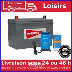 130Ah Batterie Décharge Lente Pour Caravane, Camping Car Bateau et Chargeur 30A