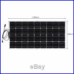 130W 18V Mono Semi Module Solaire Flexible Panneau Solaire pour Bateau