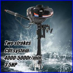 2 TEMPS Moteur essence pour bateau arbre court Moteur hors-bord refroidi à l'eau