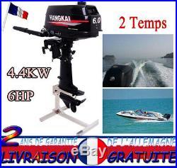 2 Temps Moteur hors-bord Bateau de peche 4.4KWith6HP Boat motor Pour barque New