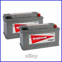 2x 110Ah 12V Batterie de Loisirs Décharge Lente Pour Camping Car Caravane Bateau