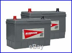 2x 12V 1000CCA Batterie de Démarrage Pour Voiture, Bateau et Tracteur