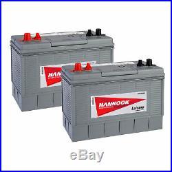 2x 12V 100Ah Batterie Décharge Lente Pour Caravane, Camping Car et Bateau