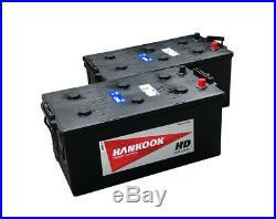 2x 12V 200Ah Batterie de Démarrage Pour Camion et Bateaux 70027