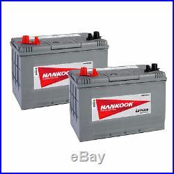 2x 12V 90Ah Batterie Décharge Lente Pour Caravane, Camping Car et Bateau DC27
