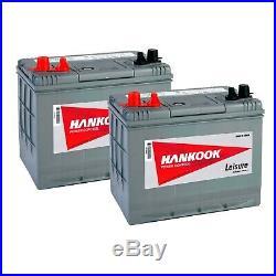 2x 80Ah Batterie de Loisirs Pour Caravane, Camping Car, Bateau Decharge Lente