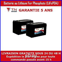 2x TN Power 12V 100Ah Lithium Batteries pour Caravane Camping Car Bateau