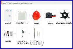 3.5 CV 2 TEMPS Moteur Essence Pour Bateau Arbre Court Moteur Hors-bord Manual