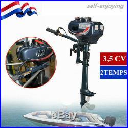 3,5 CV 2TEMPS Moteur hors-bord Moteur essence pour bateau arbre court Water cool