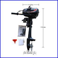 3.5CV 2 TEMPS Moteur Essence Pour Bateau Arbre Court Moteur Hors-bord Manual DHL