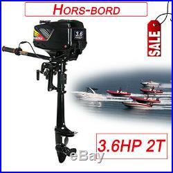 3.6HP 2T Moteur Hors-bord Pour Bateau de Pêche avec refroidissement par eau 40cm