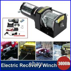 3000lbs électrique treuil 12V fil télécommande kit pour camion SUV ATV bateau