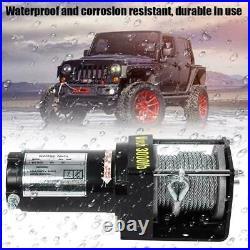 3000lbs treuil de électrique 12V télécommande de fil kit pour camion ATV bateau