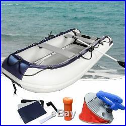 320cm Canot Bateau de Sport en Caoutchouc Gonflable pour Aquatique Barque