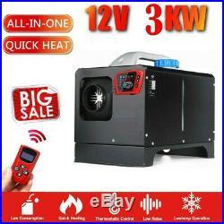 3KW Diesel Air Heater Robinet de chauffage 12V pour bateau voiture v7