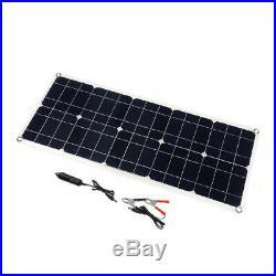 3XChargeur de Batterie Double Panneau Solaire USB 100W 18V pour Bateau Voit hnb