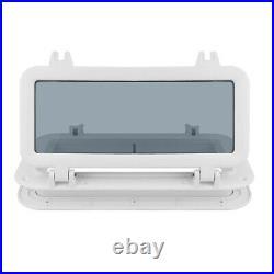 3x Hublot d'ouverture rectangulaire pour yacht de bateau 320x120mm Fenêtre de