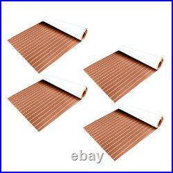 4 Pièces Tapis de Bateau de Feuille Decking de Teck Protections Plancher pour