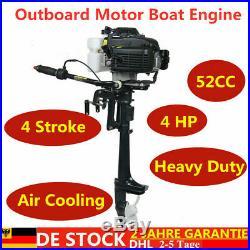 4 TEMP 4 CV Moteur essence pour bateau Moteur hors-bord refroidissement par air