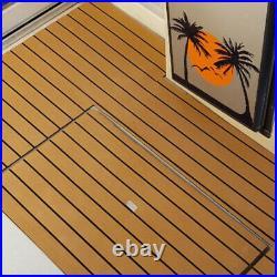 4pcs Feuille de Plancher de Bateau de Teck en Mousse EVA Tapis de Sol pour