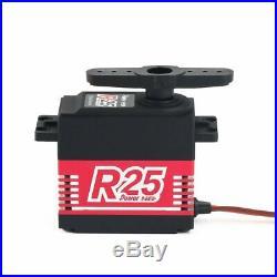 4pcs puissance HD R25 HV 25kg en alliage servo numérique sans cor pour bateau de