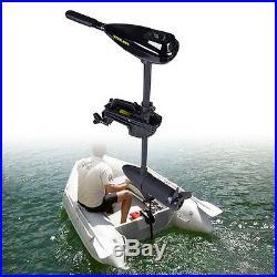 58LBS moteur bateau électrique, moteur hors-bord 12 volts pour bateaux 3 leaves