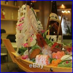 5XPlateau À Sushi En Bois Assiette de Service Bateau Grand Taille 50Cm Pour 2T