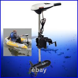 600W 12V 65 lbs Moteur électrique hors bord pour barque bateau Trolling brosse