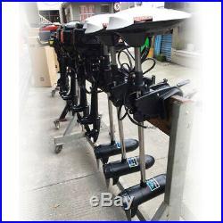 600W 65 lbs Moteur électrique hors bord 12V pour barque bateau pneumatique 50dB