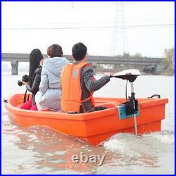 600W 65 lbs Moteur électrique hors bord pour barque bateau Trolling brosse