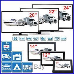 7 24 Numérique TV 12v 240v Pour Camping-Car Caravane Bateau DVB-T2 Tnt Pvr