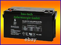 80Ah 12V Phaéton AGM Gel Deep Cycle- Batterie Pour Solaire Camping-Car Bateau
