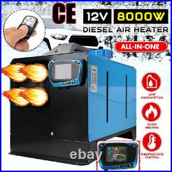 8KW 12V Diesel Air Heater LCD Remote Control Chauffage pour Bateau Camion Pickup