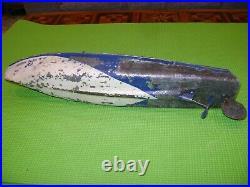 Bateau Canot Jep Ruban Bleu N°2 En Tole 50cm Jouet Ancien Annees 30 Pour Restau