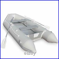 Bateau Gonflable pour 4 Personnes 320x152 cm 2 Rames en Aluminium Pompe à Pied