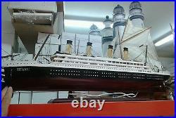 Bateau Titanic Lumières 98 CM Miniature Pour BAR Restaurant Trattoria Maison Que