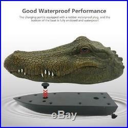 Bateau à moteur de crocodile de simulation de 2,4 GHz RC pour la sauvagine